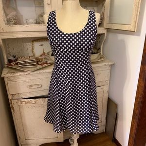 The Limited Navy & White Polka Dot Dress Sz 4